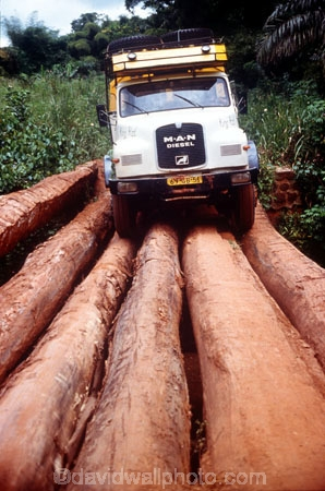 truck;trucks;vehicle;travel;travelling;transport;transportation;diesel;diesel-truck;carry;passenger;passengers;track;tracks;roads;road;bridge;bridges;crossing;log;logs;front;route;zaire;congo;democratic-republic-of-congo