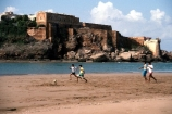 kasbar;sale;football;kids;beach;children-;beaches;rabat;coast;coastal;castle;castles;forts;fortress;fort;casbar;soccer;morocco;moroccan;africa;african;team;game;sand;run