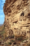 dogon;dogons;cliff;cliffs;bluff;bluffs;dweller;dwellers;tomb;tombs;grave;graves;sahel;escarpments;tradition;traditional;traditions;culture;cultures;cultural;people;peoples;thatch;thatched;roof;rooves;mud-hut;granery;graneries;granery;granaries;straw-roof;grass-rooves;tribal;tribe;african;villages;tellem;mali-;malian;africa;african;sahel;bandiagara;escarpment;irelli;ireli;west-africa;architecture;architectural