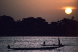 Fisherman;Bani-River;Djenne;Mali;West-Africa;african;fishermen;fishing;pirogue;dugout;dug_out;canoe;silhouette;sunset;river;rivers;mali;malian;sahel