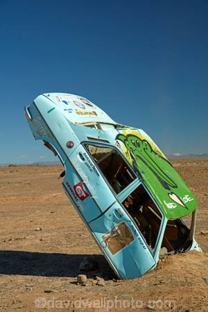 art;artwork;buried-car;Ceres;funny;humour;humourous;Peugeot;Republic-of-South-Africa;South-Africa;South-African-Republic;Southern-Africa;Tankwa-Karoo;Tankwa-Padstal;Western-Cape