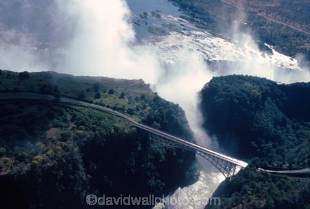 Victoria-Falls;Zimbabwe;Zambia;Southern-Africa;aerial;African;africa;waterfall;waterfalls;water;natural;wonder-of-the-world;seven-natural-wonders-of-the-wo;mist;misty;spray;refraction;high;nature;power;aerials;vertical;;flow;chasm;zambezi;zambesi;bridge;bridges