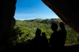 Africa;Big-Cave-Camp;Big-Cave-Lodge;camp;camps;cave;caves;hiker;hikers;lodge;lodges;Matobo-Hills;Matobo-National-Park;Matopos-Hills;people;person;resort;resorts;rock-overhang;silhouette;silhouettes;Southern-Africa;tourism;tourist;tourists;Zimbabwe