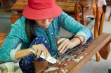 Asia;Asian;female;females;handcraft;handcrafted;handcrafts;handicraft;handicrafts;handmade;inlaid-mother-of-pearl;lady;made-by-hand;marquetry;Mekong-Delta;mother-of-pearl;mother-of-pearl-inlay;nacre;people;person;South-East-Asia;Southeast-Asia;Tien-Giang;Tien-Giang-Province;Vietnam;Vietnamese;woman;women;worker;workers