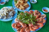 Asia;Asian;dish;food;king-prawn;king-prawns;Mekong-Delta;prawn;prawns;restaurant;restaurants;seafood;shellfish;South-East-Asia;Southeast-Asia;spring-roll;spring-rolls;Tan-Thanh;Tan-Thanh-beach;Tien-Giang;Tien-Giang-Province;Vietnam;Vietnamese