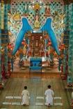 Asia;Asian;Cai-Ly;Cai-Lay;Cai-Lay-town;Cao-Dai-religion;Cao-Dai-Temple;Cao-Ðài;Caodaism;Caodaist;Caodaists;devotee;devotees;faith;inside;interior;interiors;Mekong-Delta;ornamental;people;person;place-of-worship;places-of-worship;pray;praying;religion;religions;religious;South-East-Asia;Southeast-Asia;temple;temples;Tien-Giang-province;Vietnam;Vietnamese