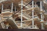 architecture;Asia;ballustrade;ballustrades;Ninh-Binh;Ninh-Bình-province;Ninh-Hai;Northern-Vietnam;power-wires;South-East-Asia;Southeast-Asia;stair-stairs;stairway;stairways;Van-Lam-Village;Vietnam;Vietnamese;wire;wires