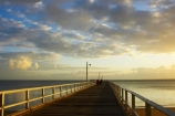 australasia;Australia;australian;coast;coastal;coastline;dawn;early-light;Fraser-Coast;Hervey-Bay;jetties;jetty;people;person;pier;piers;queensland;ray;rays;sun-rays;sunrays;sunrise;Urangan-pier;wharf;wharfs;wharves