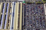 aerial;aerials;australasia;Australia;australian;automobile;automobiles;car;Car-Park;car-parks;cars;congestion;huge;lane;lanes;line;lines;long;market;market-place;market-places;marketplace;marketplaces;markets;Melbourne;parking;parking-area;parking-areas;parking-lot;parking-lots;Queen-Victoria-Market;roof;rooves;row;Rows;traffic;tranportation;transport;transportation;vehicle;vehicles;Victoria