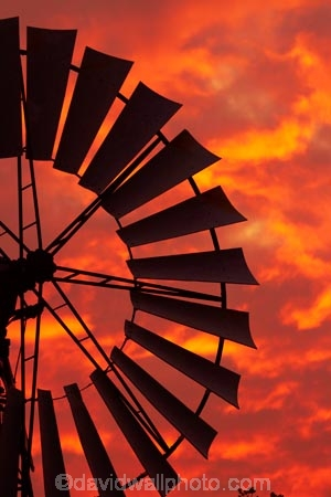 Australasia;Australia;dusk;Emerald-Springs-Road-House;Emerald-Springs-Roadhouse;evening;N.T.;nightfall;Northern-Territory;NT;orange;sky;sunset;sunsets;Top-End;twilight;wind_mill;wind_mills;windmill;windmills