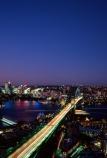 Sydney;Harbour;harbours;harbor;harbors;Bridge;Night;Shangri_La;Hotel;Sydney;Australia;traffic;tail-lights;bridges;light;lights;north-sydney