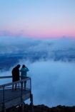 above-the-clouds;Australasian;Australia;Australian;cloud;cloudy;dusk;evening;Hobart;Island-of-Tasmania;Mount-Wellington;Mt-Wellington;Mt.-Wellington;night;night-time;people;pink;public-viewing-point;State-of-Tasmania;Tas;Tasmania;tourist;tourists;twilight;viewing-point;viewpoint