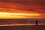 Australasian;Australia;Australian;beach;beaches;coast;coastal;coastline;dusk;evening;Island-of-Tasmania;nightfall;Ocean-Beach;orange;people;person;sand;sandy;shore;shoreline;silhouette;silhouettes;sky;Southern-Ocean;State-of-Tasmania;Strahan;sunset;sunsets;Tas;Tasmania;The-West;twilight;West-Tasmania;Western-Tasmania