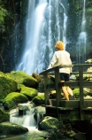 moss;wet;water;waterfall;waterfalls;water-fall;water-falls;stream;streams;brook;brooks;creek;creeks;nature;natural;scene;scenic;green;color;colors;colours;colour;cascade;cascades;Southern-Scenic-Route;person;tourist;tourism;alone;viewing-platform