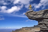 on-the-edge;bike;cycle;cyclist;biker;bikes;cycles;bicycle;bicycles;rocks;high-country;cliff;cliffs;bluff;bluffs;duffers-saddle;duffers;danger;dangerous;exciting;adventure;sports;overhang;overhanging