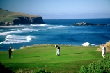 put;putting;green;hole;flag;waves;ocean;pacific;game;relax;sport