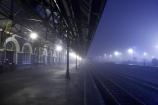 1906;architecture;building;buildings;Dunedin;Dunedin-Railway-Station;Flemish-Renaissance-style;fog;foggy;George-A-Troup;Gingerbread-George;heritage;Historic;historic-building;historic-buildings;Historic-Railway-Station;historical;historical-building;historical-buildings;history;mist;misty;monochromatic;monochrome;N.Z.;New-Zealand;night;night-time;night_time;NZ;old;Otago;platform;platforms;rail-station;rail-stations;railway;railway-station;railway-stations;railways;S.I.;SI;South-Is.;South-Island;tradition;traditional;train-station;train-stations;winter