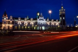 architect;architecture;basalt;clock;Dunedins-moto-secundo-curo;Dunedins-Motto;dusk;Flemish-Renaissance-style;floor-panels;George-A-Troup;Gingerbread-George;historic;historical;history;i-prosper-and-am-cautious;limestone;mosaic-tiles;New-Zealand-Railways;night;nighttime;red-marseille-tiles;secundo-curo;time-lapse;timelapse;tower;towers