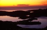 dawn;orange;cloud;clouds;pacific;ocean;sea;harbor;first-light;waterway;waterways;channel;beauty