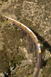 bridge;bridges;viaduct;viaducts;train;trains;carriage;carriages;historic;historical;high;yellow;steel;rail;excursion;tourism;transport;travel;rail;taieri-gorge-train;taieri-river;taieri-gorge;flat-stream-viaduct;dunedin;south-island;new-zealand