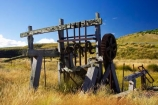 abandoned;Canton-Stamping-Battery;cog-wheels;cogs;crush;crusher;deserted;discovered;gold;gold-fields;gold-mining;gold-rush;gold-towns;Goldfields;goldminers;goldmining;goldrush;heritage;hills;historic;historical;history;Lake-Mahinerangi;machine;machinery;miners;mountains;New-Zealand;old;Otago;posts;quartz;quartz-crushing;quartz-reefs;ruin;rust;rusted;rusty;shaft;South-Island;stamp;stamper;stamping;support;tradition;traditional;wooden-posts