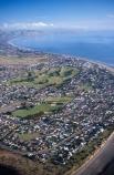 beach;coastal;coast;shoreline;coastline;beaches;ocean;sea;tasman;s;Paraparaumu;Kapiti-Coast;North-Island;aerial;aerials;golf-course;golf;golfing