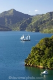 Becks-Bay;coast;coastal;coastline;Grove-Arm;Marlborough;Marlborough-Sounds;mast;masts;moor;mooring;moorings;New-Zealand;Queen-Charlotte-Sound;sail;sailing-ship;sailing-ships;sails;South-Island;Spirit-of-Adventure;Spirit-of-New-Zealand;tall-ship;tall-ships;Whenuanui-Bay