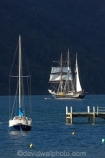 coast;coastal;coastline;Grove-Arm;jetties;jetty;Marlborough;Marlborough-Sounds;mast;masts;Momorangi-Bay;New-Zealand;pier;piers;Queen-Charlotte-Sound;sail;sailing-ship;sailing-ships;sails;South-Island;Spirit-of-Adventure;Spirit-of-New-Zealand;tall-ship;tall-ships;waterside;wharf;wharfes;wharves