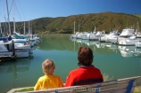 boat;boats;boy;boys;calm;calmness;child;children;families;family;fishing-boats;harbor;harbors;harbour;harbours;Havelock;hull;hulls;kid;kids;launch;launches;Mahau-Sound;marina;marinas;Marlborough;Marlborough-Sounds;mast;masts;model-release;model-released;mother;N.Z.;New-Zealand;NZ;peaceful;peacefulness;people;port;ports;reflection;reflections;S.I.;sail;sailing;SI;small-boy;small-boys;South-Is.;South-Island;still;stillness;tranquil;tranquility;yacht;yachts