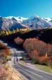 alpine;arthur-pass;arthurs-pass;color;colors;colour;colours;mountain;mountains;orange;red;roads;snow;transport;travel;tree;trees;yellow