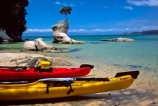 coast;coastal;coastline;shore;shoreline;shore-line;coast-line;sea;water;kayak;kayaks;kayaking;island;islands;bush;tranquil;tranquility;peaceful;peace;peacefulness;beach;beaches;sand;colour;colours;color;colors;yellow;blue;green;aqua;paddle;paddles;paddling;clear;tinline-bay;Abel-Tasman-National-Park;Abel-Tasman;National-Park;National-Parks