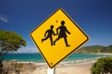 Bay-of-Is;Bay-of-Islands;beach;beaches;child;children;Children-warning-sign;Children-warning-signs;coast;coastal;coastline;hot;Kororareka;Long-Beach;N.I.;N.Z.;New-Zealand;NI;North-Is;North-Is.;North-Island;Northland;NZ;ocean;Oneroa-Bay;road-sign;road-signs;Russell;sand;sandy;shore;shoreline;summer;warning;warning-sign;warning-signs;yellow