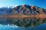 benmore-range;calm;calmness;cold;lake;Lake-Benmore;lakes;new-zealand;peaceful;peacefulness;perfect;reflection;reflections;season;seasonal;seasons;South-Island;still;Waitaki-Valley;Winter
