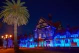 Bath-House;Bay-of-Plenty-Region;building;buildings;dark;dusk;evening;Government-Gardens;heritage;historic;historic-building;historic-buildings;historical;historical-building;historical-buildings;history;light;lighting;lights;N.I.;N.Z.;New-Zealand;NI;night;night-time;night_time;North-Is;North-Island;Nth-Is;NZ;old;palm;palm-tree;palm-trees;Rotorua;Rotorua-Museum;tradition;traditional;twilight