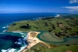 New-Zealand;coast;coastal;coastline;shore;shoreline;beach;beaches;sand;sandy;waves;wave;sea;ocean;Pacific;bay;colour;color;farmland;rural;marine;rugged;Southern-Scenic-Route