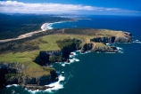 aerials;bay;beach;beaches;cliff;coast;coastal;coastline;color;colour;marine;New-Zealand;ocean;Pacific;rugged;sand;sandy;sea;shore;shoreline;Southern-Scenic-Route;wave;waves