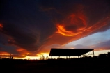 barn;barns;cloud;clouds;dusk;evening;farm-shed;farm-sheds;hay-shed;hay-sheds;Mossburn;N.Z.;New-Zealand;nightfall;NZ;orange;S.I.;SI;sky;South-Is;South-Island;Southland;Sth-Is;sunset;sunsets;twilight