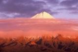 snow;winter;ice;volcano;volcanoes;mountain;mountains;snowline;snow_line;snow-line;sunrise;dawn;cloud;clouds