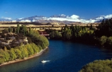 boat;boats;jet-boat;jet-boats;river;clutha;central-otago;green;water;blue;bridge;red-bridge;low-cloud;holiday;vacation;relax;relaxing