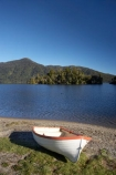 boat;boats;dinghies;dinghy;Hans-Bay;Hans-Island;lake;Lake-Kaniere;lakes;N.Z.;New-Zealand;NZ;row-boat;row-boats;rowboat;rowboats;S.I.;SI;South-Is.;South-Island;water;Wesl-Coast;Westland