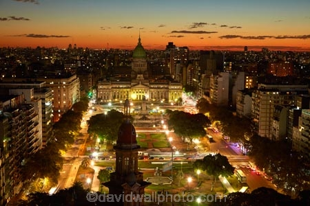 Argentina;Argentine-Republic;B.A.;BA;Barolo-Palace;Buenos-Aires;Congressional-Palaca;Congressional-Plaza;Congressional-Square;dark;dusk;evening;Latin-America;light;lighting;lights;Monserrat;night;night-time;night_time;nightfall;Palacio-Barolo;Palacio-de-la-Nacion;Palacio-del-Congresso;plaza;Plaza-del-Congreso;South-America;Sth-America;sunset;sunsets;twilight