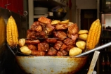cafe;cafes;corn;corn-cob;Cusco;Cuzco;fast-food;fried-food;fried-meat;Latin-America;meat;Peru;Peruvian-fast-food;potato;potatoes;Republic-of-Peru;restaurant;restaurants;South-America;Sth-America;street-food