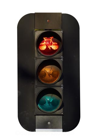 bicycle;bike;cycle;lane;stop;red;New-Zealand;NZ;South-Island;light;lights;signal;traffic;signals;cutout;cut;out