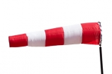 air;sleeve;sock;South-America;wind;direction;cutout;cut;out;white;red;stripes;striped
