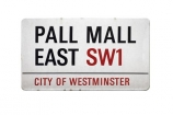 Britain;City-of-Westminster;England;Great-Britain;London;place;Monopoly;board;Pall-Mall;road;sign;street;UK;United-Kingdom;W1;West-End;cutout;cut;out