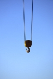 air;Blue-sky;Cable;Cables;Color;Colour;Construction;Construction-site;Construction-sites;Crane;Cranes;Daytime;Empty;Exterior;hang;Hook;Hooks;Horizontal;Industrial;Industry;Outdoor;Skies;Sky;useful-idea;View-from-below