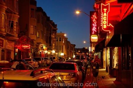 Bars And Restaurants Along Grant Avenue Little Italy San