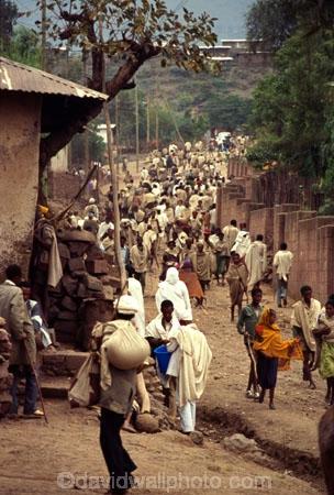 religion;religious;belief;beige;robes;donkey;markets;biblical-scene;historical;historic;people;crowd;Ethiopian