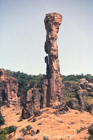 Rock-Pinacle;pinnacle;Bamako;mali;West-Africa;rock-stack;scene;african-;pillar;column;pillars;columns;natural;feature;sahel;rocks;dry;arid