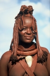 Himba-Woman;Himba;Namibia;Africa;Southern-Africa;tradition;traditional;traditions;culture;cultures;cultural;indigenous;native;jewelery;jewellery;adorn;adornment;adornments;costume;costumes;braiding;necklace;necklaces;ochre;shell